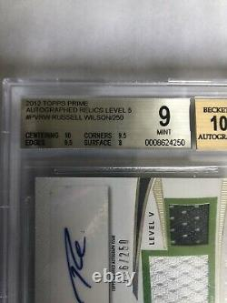 2012 Russell Wilson Topps Prime Level 5 Auto RC- BGS 9 with10 auto
