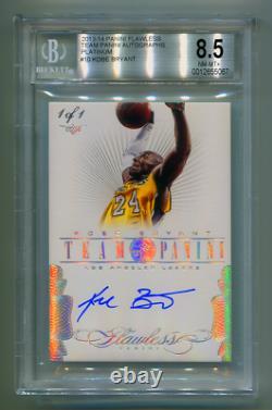 2013-14 Panini Flawless Autograph Auto Platinum Kobe Bryant #1/1 Bgs 8.5 1 Of 1