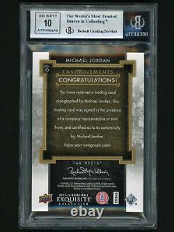2013-14 UD Exquisite Enshrinements Michael Jordan Auto #5/23 BGS 9 Mint/Auto10