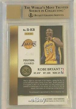 2014-15 Select Signatures Kobe Bryant #1 Autograph BGS 9.5 Gem Mint 10 Auto #/60