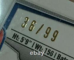2014 Bowman Chrome Black Refractor Mookie Betts ROOKIE AUTO /99 BGS 9.5 GEM MINT