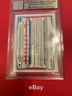 2014 Mookie Betts Bowman Chrome Rookie Autograph Bgs 9.5/10 Auto Rare Gem Subs