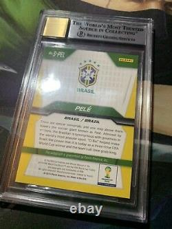 2014 Panini Prizm World Cup Pele Autograph BGS 9/10 Auto