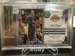 2015-16 Court Kings Autograph Sapphire Kobe Bryant /25 Bgs 9.5 Auto 10 Rare Ssp