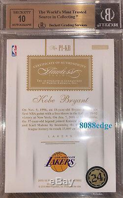 2015-16 Flawless Premium Ink Auto Kobe Bryant #9/25 Autograph Bgs 9.5 Gem Mint