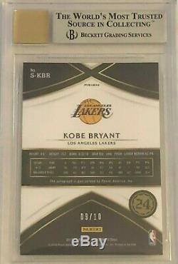 2015-16 Select Signatures Kobe Bryant #1 GOLD Autograph BGS 9 Auto 9 #9/10