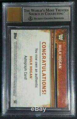 2015 Topps Chrome WWE Hulk Hogan Autograph Card Hulkster Auto BGS 9/10 Mint