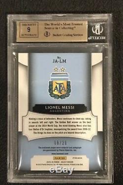 2015 select jersey autograph Lionel Messi Blue auto BGS 9.5 #20 MINT POP 1