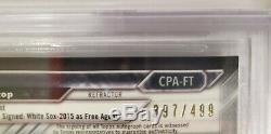 2016 Bowman Chrome Refractor Fernando Tatis Jr. AUTO Autograph /499 BGS 9.5 RC