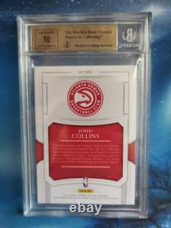 2017-18 National Treasures John Collins Rookie Patch Auto RPA /99 RC BGS 9.5/10