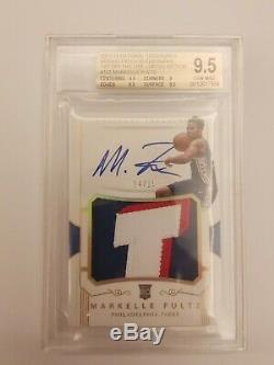 2017-18 National Treasures Markelle Fultz Rookie Patch Auto RPA /15 BGS 9.5/10