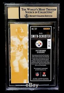 2017 Contenders Optic Prizm JUJU SMITH-SCHUSTER Auto RC Ticket STEELERS BGS 9.5