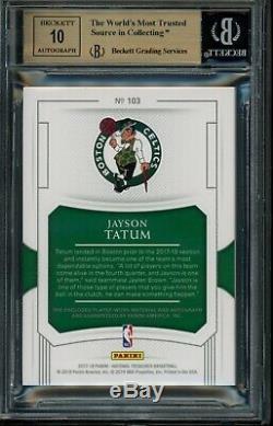 2017 National Treasures Jayson Tatum Rookie Patch Auto RPA /99 BGS 9.5 Gem Mint