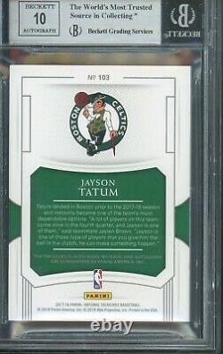 2017 National Treasures Jayson Tatum Rookie Patch Auto RPA /99 BGS 9 Gem Mint