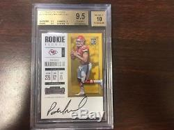 2017 Panini Contenders #303 Patrick Mahomes II BGS 9.5 GEM MINT RC Auto Rookie