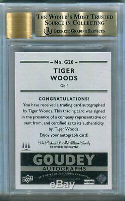 2017 UD Goodwin Champions TIGER WOODS Goudey Auto Autograph BGS 9.5/10 GreatSubs