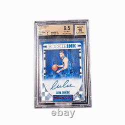 2018-19 Hoops Rookie Ink Red Luka Doncic RC BGS 9.5 with AUTO 10 RARE 25/25
