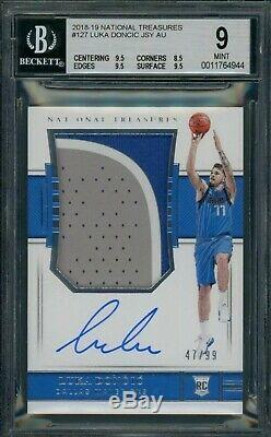 2018-19 National Treasures Rookie Patch Auto Luka Doncic RPA /#99 BGS 9 Auto 10