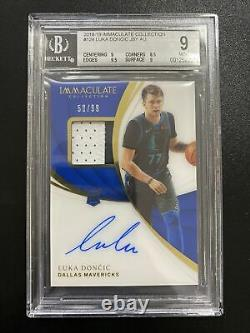 2018-19 Panini Immaculate LUKA DONCIC Rookie Patch Auto RC RPA 50/99 BGS 9/9