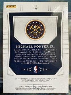 2018-19 Panini National Treasures Michael Porter JR. RC Rookie Patch Auto /99