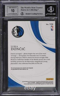 2018 Immaculate Collection Luka Doncic ROOKIE RC PATCH AUTO /99 #124 BGS 9 MINT