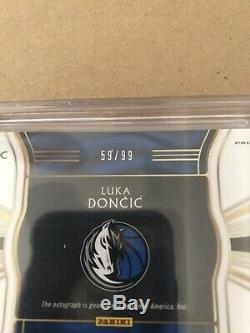 2018 LUKA DONCIC Select Rookie Auto Prizm NEON Green #d 59/99 BGS 9 AUTO 10 SP