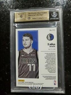 2018 Luka Doncic #25/25 Vertical Bgs 9.5 Encased Auto Rookie Card Rc 3 Color Rpa
