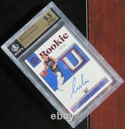 2018 Luka Doncic Encased #14/25 Vertical Bgs 9.5 Auto Rookie Card Rc 3 Color Rpa