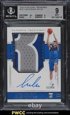 2018 National Treasures Luka Doncic ROOKIE RC PATCH AUTO /99 #127 BGS 9 MINT
