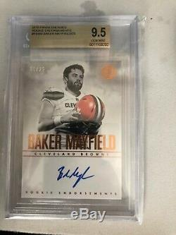 2018 Panini Encased Baker Mayfield Autograph AUTO Rookie RC 05/25 BGS 9.5 BROWNS