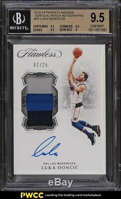 2018 Panini Flawless Vertical Luka Doncic ROOKIE PATCH AUTO 07/25 BGS 9.5