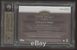 2018 Topps Dynasty Mike Trout 3 Color Patch Auto Autograph /10 BGS 9.5 10