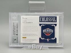 2019-20 National Treasures ZION WILLIAMSON 1/1 Colossal Rookie Patch Auto RC BGS