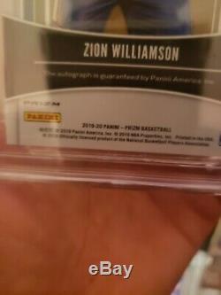 2019-20 Prizm Zion Williamson PENMANSHIP SILVER Autograph auto BGS TRUE GEM+