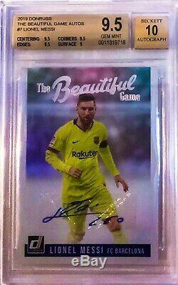 2019 Donruss Lionel Messi The Beautiful Game Auto Autograph BGS 9.5 Gem Mint