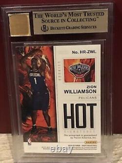 2019 Hoops Hot Signatures Zion Williamson ROOKIE RC AUTO #1 BGS 9.5 GEM MINT