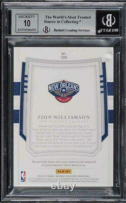 2019 National Treasures Stars & Stripes Zion Williamson RC PATCH AUTO 1/3 BGS 9