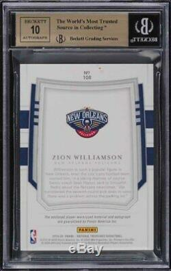 2019 National Treasures Zion Williamson FOTL ROOKIE PATCH AUTO /30 BGS 9.5