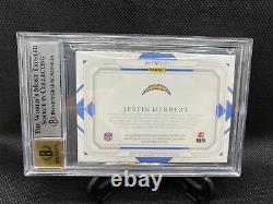 2020 National Treasures JUSTIN HERBERT GOLD Holo RPA #1/10 BGS 8.5 AUTO 10