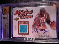 /25 Auto 1996 All Star Michael Jordan G/U Jersey Patch BGS Mint 9 10 Autograph