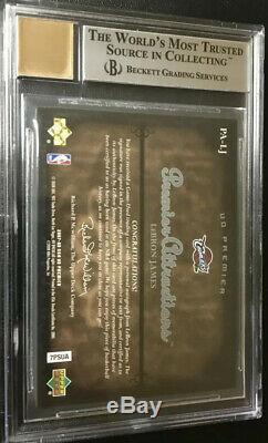 /50 UDA Premier Attractions LeBron James Jersey Patch Autograph BGS 8.5 10 Auto