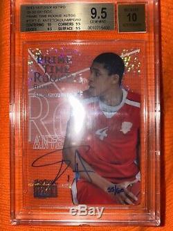 /60 Auto RC Fleer Retro Giannis Antetokounmpo Prime Time Rookies Autograph BGS