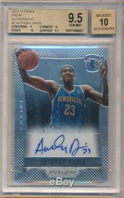 Anthony Davis 2012/13 Panini Prizm Rookie Autograph Lakers Auto Bgs 9.5 Gem 10