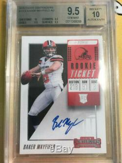 BAKER MAYFIELD 2018 Panini Contenders Rookie RC Ticket Auto Autograph BGS 9.5/10