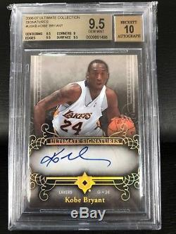 BGS 9.5 10 Kobe Bryant 2006-07 UD Ultimate Collection Autograph Signatures Auto