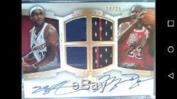 BGS 9.5 2007-08 Ultimate Collection Michael Jordan Lebron James Dual Auto #/25