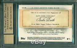 Babe Ruth 2009 Topps Tribute AUTOGRAPH One of One (1/1) BGS 10 Mint Auto