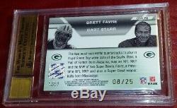 Bart Starr 2007 Topps Cosigners Auto Brett Favre Gold Autograph Bgs 9.5 Gem Mint