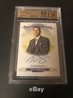 Ben Simmons 2018 UD Goodwin Champions Auto Bgs 9.5/10 76ers ROY great autograph