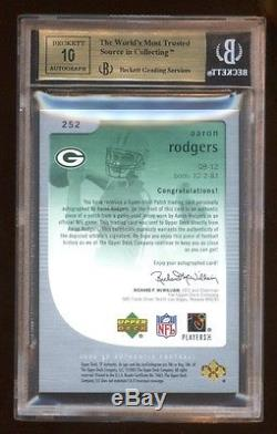 Bgs 9.5 10 Aaron Rodgers 05 Sp Authentic Rc Auto Gold /25 Subs 10 10 1 0 95 9